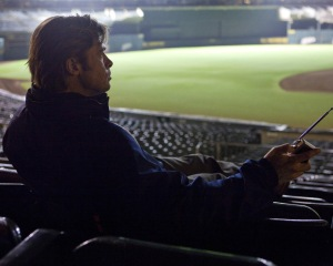 Brad Pitt as Billy Beane in Moneyball.
